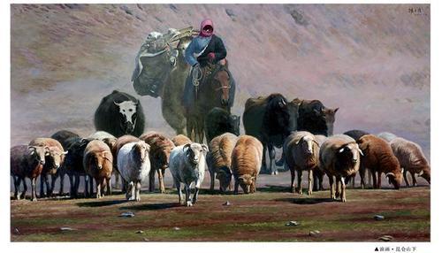 韩玉臣油画《昆仑山下》尺寸1800×3200mm.jpg