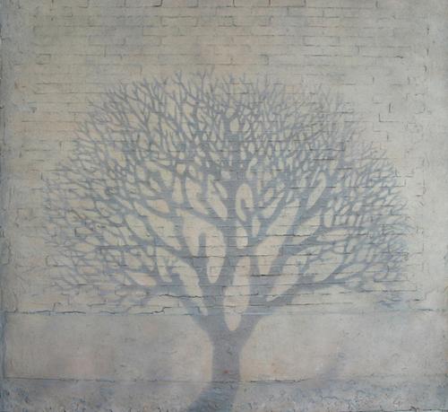 郑峰作品《冬日暖阳》 油彩,丙烯综合材料 183.5cm x 186cm.jpg